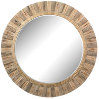 Signature 64 X 64 inch Natural Drift Wood Wall Mirror Home Decor, Round