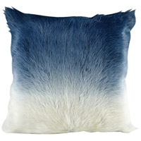 Bareback Ivory to Blue Pillow