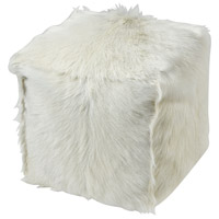 Bareback White Pillow-Pouf, Tenderfoot