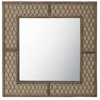 Canvas Wire 14 X 14 inch Brown Wall Mirror Home Decor