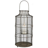 Chicken Wire 24 inch Aged Iron Hurricane Portable Light, Large
