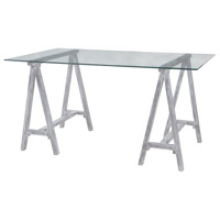 Coastal Cool 60 X 36 inch Sandblasted Light Grey Architects Table Home Decor