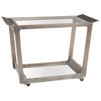 Thompson 37 X 19 inch Euro Grey Stain Bar Cart Home Decor