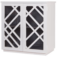 Dimond Home 7011-036 Plaid White Side Chest