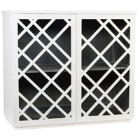 Dimond Home 7011-037 Plaid White Bar Cabinet