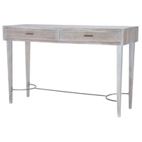 Empire 54 X 18 inch Restoration Grey Console Table Home Decor, Stretcher
