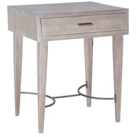 Empire 24 X 20 inch Restoration Grey Side Table Home Decor, Stretcher