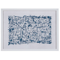 Blue Networks White Wall Decor