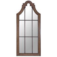 Naples 90 X 38 inch Weathered Mahogany,Heritage Gray Wall Mirror Home Decor