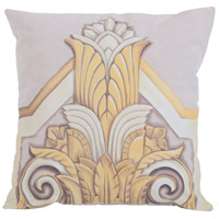 Gold Deco 24 inch Hand-Painted Pillow Cover
