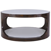 Mister Mod 36 X 19 inch Antique Brass and Cappuccino Foam Coffee Table