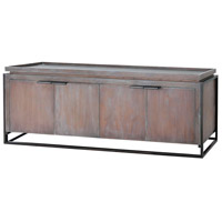 Dimond Home 7011-1232 Milford 68 inch Heritage Grey with White Wash and Antique Brass Entertainment Console
