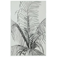 Dimond Home 7011-1248 Graphic Palm Gloss White Wall Art
