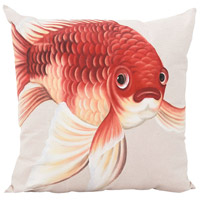 Mr Bubbles 22 inch Handpainted Art Pillow