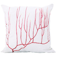 Tropical Coral 22 inch Handpainted Art Pillow