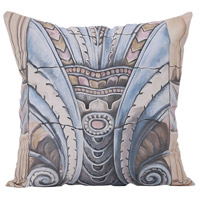 Art Deco Ornament 22 inch Handpainted Art Pillow
