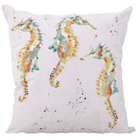 Herd Of Horses 22 inch Handpainted Art Pillow