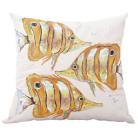 School 22 inch Handpainted Art Pillow