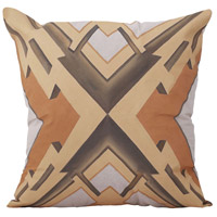 Art Deco Graphic 22 inch Handpainted Art Pillow
