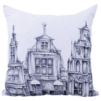 Amsterdam 22 inch Handpainted Art Pillow Cover, I