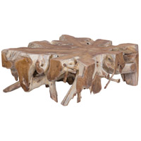 Teak Starburst 46 X 16 inch Natural Coffee Table