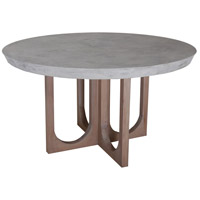 Innwood 54 inch Waxed Concrete and Blonde Stain Outdoor Dining Table, Round