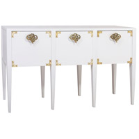 Dimond Home 7011-1500 Cabbie 61 X 16 inch High Gloss White and Polished Brass Console thumb