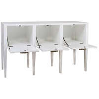 Dimond Home 7011-1500 Cabbie 61 X 16 inch High Gloss White and Polished Brass Console 7011-1500_alt1.jpg thumb