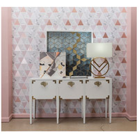 Dimond Home 7011-1500 Cabbie 61 X 16 inch High Gloss White and Polished Brass Console 7011-1500_rm2.jpg thumb