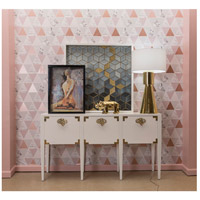 Dimond Home 7011-1500 Cabbie 61 X 16 inch High Gloss White and Polished Brass Console 7011-1500_rm3.jpg thumb