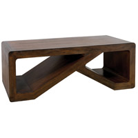 Clip 54 X 34 inch Brown Stain Coffee Table