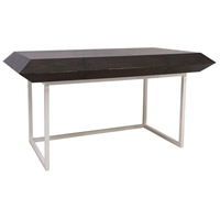 Teatro 64 X 22 inch Gray Stain and White Desk