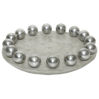 Dimond Home 7011-1541 Ball Waxed Concrete and Polished Aluminum Tray thumb