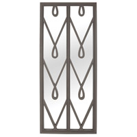 Peggy 72 X 30 inch Grain De Bois Garden Gate Wall Mirror Home Decor