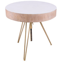 Dimond Home 7159-060 Biarritz 21 X 21 inch White and Gold Side Table thumb