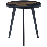 Alemann 19 X 17 inch Black and Teak Woodtone Side Table