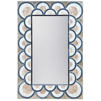 Dimond Home 7163-071 Art Deco Mosaic 47 X 32 inch Natural Capiz and Navy Blue Wall Mirror thumb