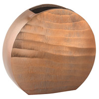 Dimond Home 8178-046 Faux Bois 9 X 8 inch Vase in Copper, Oval thumb