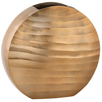 Dimond Home 8178-047 Faux Bois 11 X 10 inch Vase in Gold, Oval thumb