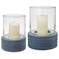 Coiled Rope 12 X 9 inch Candle Hurricane
