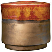 Garden 15 inch Burnt Gold Crackle and Rustic Bronze Stool in Short, Short