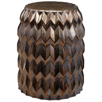 Dimond Home 857-173 Chevron Bullet 20 inch Crystal Gold Stool thumb