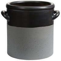 Dimond Home 857-189 Blackstrap Matte Metallic Black and Stained Dove Grey Pot thumb