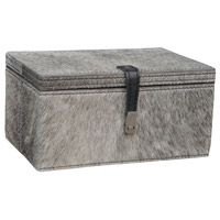Dimond Home 8819-022 Hairon Leather 9 X 6 inch Grey Box in Small, Small