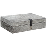 Dimond Home 8819-023 Hairon Leather 11 X 7 inch Grey Box in Large, Large