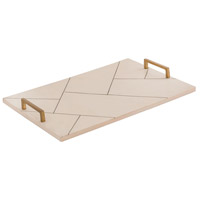 Houblon Off White/Gold Tray