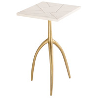 Houblon 14 inch Gold and White Accent Table Home Decor