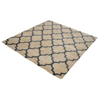 Wego 16 X 16 inch Natural and Black Rug in 16-inch Square
