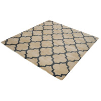 Wego 6 X 6 inch Natural and Black Rug in 6-inch Square
