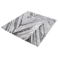 Rhythm Grey and White Rug